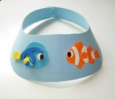 Visera de goma eva con Nemo y Dory