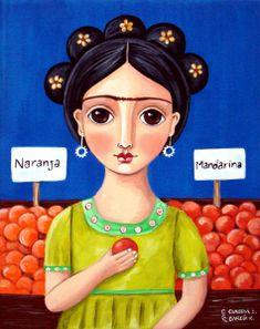 """Frida in Mexican Market"" by Claudia Garcia"