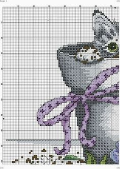 Cross-stitch gattino. a)