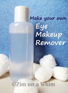 Homemade Eye Makeup Remover- Made this tonight, excited to try it!! ;-) Eye Makeup Tips, Makeup Tricks, Skin Makeup, Beauty Makeup, Makeup Stuff, Homemade Beauty Products, Natural Products, Green Products, Diy Products