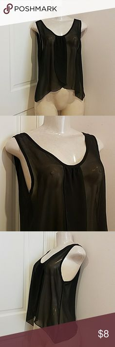 My story black sheer see through top size M The size ticket says size large , but the real size is a M My Story Tops