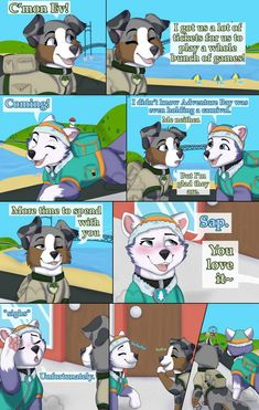 Day at the Fair Page 1 by stxrmiiskyes on DeviantArt Furry Comic, Alvin And The Chipmunks, Like Image, Anthro Furry, Paw Patrol, Pokemon, Puppies, Deviantart