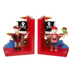Pirate Wooden Book Ends