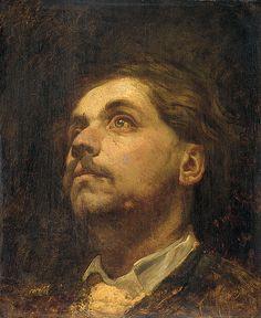 Matthijs Maris - Portrait of Jacob Maris - 1857    oil on panel, 40 × 33 cm (15.7 × 13 in)    , Rijksmuseum Amsterdam, the Netherlands
