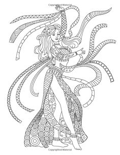Dancing Around the World - Adult Coloring Book: Swing Your Pens on a Unique Journey Through the World Fairy Coloring Pages, Adult Coloring Pages, Coloring Books, Art Activities, Mandala Art, Girly, Faeries, Embroidery Stitches, Dance Moves