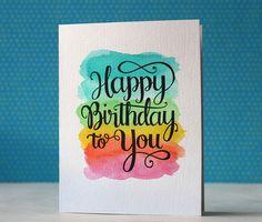 Happy Birthday Card via Happy Hands Project