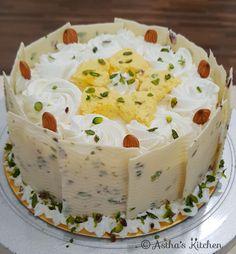 Rasmalai Cake Recipe, Kulfi Recipe, Modak Recipe, Cake Decorating Frosting, Cake Decorating Designs, Eggless Desserts, Eggless Baking, Cake Designs For Boy, Cupcake Cakes