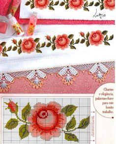 101 ÇEŞİT GÜL ŞABLONU (1) - GELİN İŞLERİ Fall Cross Stitch, Cross Stitch Borders, Cross Stitch Rose, Cross Stitch Flowers, Cross Stitch Charts, Cross Stitch Designs, Cross Stitching, Cross Stitch Embroidery, Embroidery Patterns