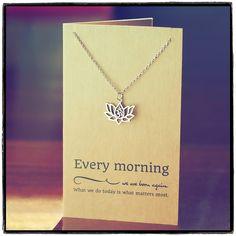 Amara Yoga Jewelry, Om Lotus Flower Necklace,  - Quan Jewelry - 3