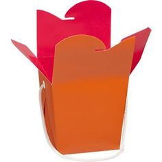 Orange-Magenta Take-Out Box in Accessories | Crate and Barrel