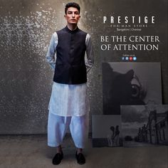 Simple, chic and sophisticated. The perfect way to elevate your #EthnicWear style. So head to #PrestigeTheManStore today to find your wedding look!