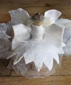 This Elegant Winter Queen may not move, but she sure looks like she's dancing! Hang her from your tree this year and watch this light-as-a-feather angel craft twirl in the breeze. angel, queen winter, christmas tree toppers, christmas gift ideas, felt crafts, winter queen, winter solstice, winter craft, diy christmas tree