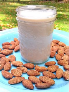 Food Tips And Strategies For Nut Milk Food Hacks, Food Tips, Almond Pulp, Vegan Smoothies, Cheese Cloth, Vitamin E, Beverages, Drinks, Glass Of Milk