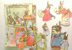 Ideal for making vintage Easter crafts. Paper ephemera pack of rabbit pictures 17 by PinkFlamingoEphemera, £3.75