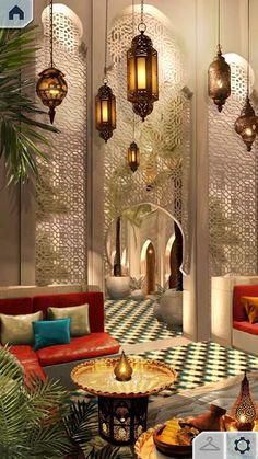 Moroccan Home Decor, Moroccan Interiors, Moroccan Design, Moroccan Style, Moroccan Rugs, Home Interior Design, Interior And Exterior, Interior Decorating, Beautiful Interior Design