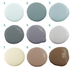 pretty, relaxing wall colors