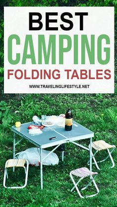 When camping, you want a good sturdy and foldable camping table for a variety of activities.  To help our readers, we have created this list of the best folding camping tables in 2020. Best Travel Gadgets, Grilling Sides, Camping Needs, Local Festivals, Camping Table, Picnic Tables, Backpacking Gear, Travel Gifts, Adventure Awaits