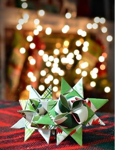 If your Christmas decorations are falling flat, then try making these German Paper Stars.