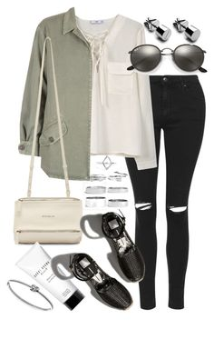"""Untitled #19974"" by florencia95 ❤ liked on Polyvore featuring Topshop, MANGO, Monrow, Givenchy, Bobbi Brown Cosmetics, Abercrombie & Fitch, Ray-Ban, Boohoo and Michael Kors"