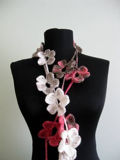 Floral Lariat Scarf