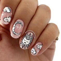 Cute Acrylic Nails, Glue On Nails, Acrylic Nail Designs, Nail Art Designs, Sun Nails, Fire Nails, Hair And Nails, Minimalist Nails, Dream Nails