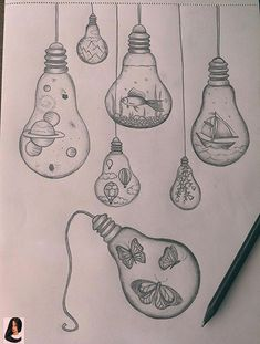 Pencil drawing light bulb drawings - jewelry draw - - Pencil Drawing Light Bulb Drawings Jewelry drawing – You are in the right place - Cool Art Drawings, Pencil Art Drawings, Art Drawings Sketches, Disney Drawings, Easy Drawings, Light Bulb Drawing, Light Bulb Art, Dibujos Zentangle Art, Art Sketchbook