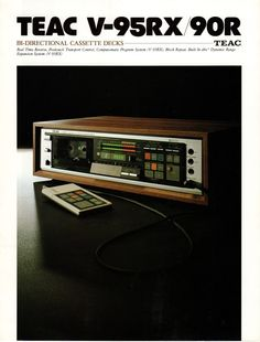 TEAC V-95RX Bi-Directional Cassette Deck page 1 photo by foxhunter351