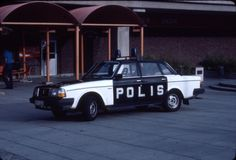 Volvo 244. 1983, Swedish police car