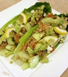 Quinoa and Avocado Lettuce Wraps