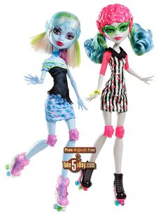 Skulltimate Roller Maze 2-Pack (Abbey Bominable and Ghoulia Yelps)