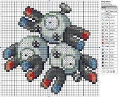 Birdie Stitching Pokemon Pattern - 82 Magneton