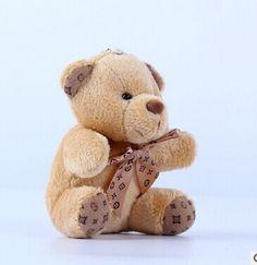 10 cm empate oso de peluche muñeca de peluche de juguete colgante llavero regalos de juguetes