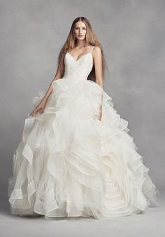 Featured Dress: White by Vera Wang; Wedding dress idea.