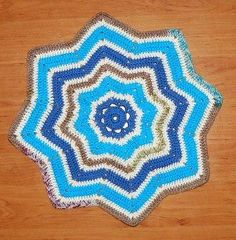 You have to see Crochet Afghan Star Rug by Fruitys!