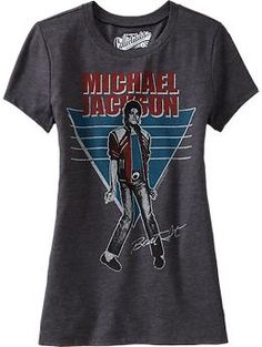 "$17 at Old Navy ... Must own this. size M. Women's Michael Jackson ""Beat It"" ™ Tees 