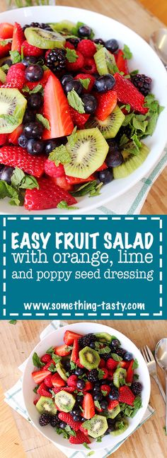 A healthy, fresh and refreshing fruit salad with the most delicious sweet, yet citrus poppy seed dressing. The kind of salad where there are never any leftovers! From Something Tasty. Poppy Seed Dressing, Orange Salad, Kinds Of Salad, Vegetarian Paleo, Fresh Mint, Fruit Salad, Yum Yum, Poppies, Salads