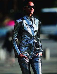 Joan Smalls by Hans Feurer for Vogue Paris Oct 2011 - Balmain