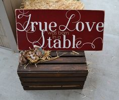 True love was born in a stable manger scene by DesignsOnSigns3