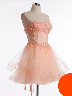 Short Homecoming Dress,Cute Homecoming Dress,Beading Homecoming Dress,Tulle Homecoming Dress