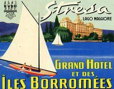 Artist Unknown poster: Stresa - Lago Maggiore (Luggage Label)