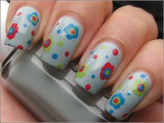 Essie Who's The Boss with Dotted Flowers