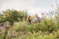 #farmerflorist #flowerfarm Michelle and Melanie in the Cosmos. Full bloom in October at Dahlia May Flower Farm Image by @AshleySlessor