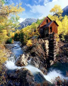 """""""This photo was taken in the autumn in the San Juan Mountains of Colorado. (Correction) This is outside of the town of Crystal – south of Marble and Redstone, about and hour and a half drive's south of Glenwood Springs. Photograph by Bobby Douglas""""."""