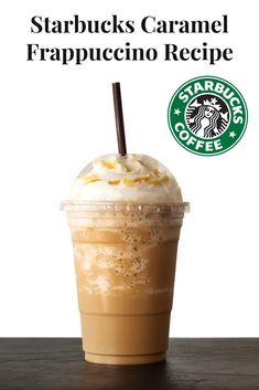 Starbucks Caramel Frappuccino, Caramel Frappe Recipe, Homemade Frappuccino, Starbucks Drinks, Starbucks Frappe Recipe, Homemade Starbucks Recipes, Frappachino Recipe, Coffee Drink Recipes, Drink Recipes