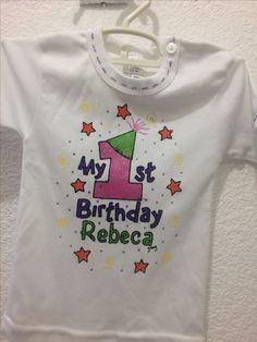 Playera Rebeca 1 año by jenny