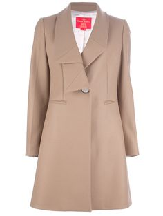 Vivienne Westwood Red Label Asymmetric Lapel Coat in Brown