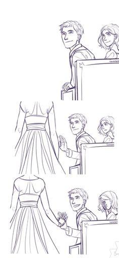 Capt. giving Cinder a hi-5 on her wedding day