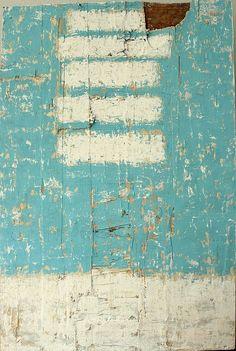 "hetart:  "" bars on 6033 - 2013 - 120 x 80 cm - mixed media on used wooden board - CHRISTIAN HETZEL  """