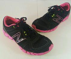 NEW BALANCE 750 v1 Women's Athletic Running Shoes Sneaker Sz 8.5 Black Pink #NewBalance #RunningCrossTraining