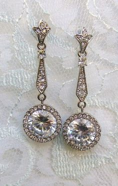 so pretty & romantic: this would be the fancy going-out earrings